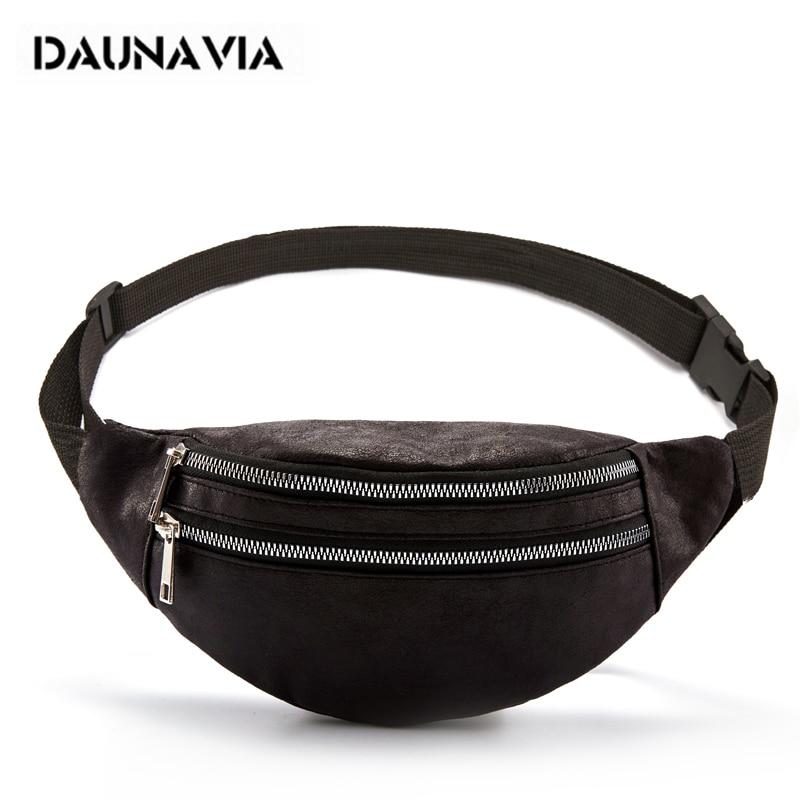 DAUNAVIA Waist Bag Lady Fashion Designer Belt Chest Bags Women's Bag Luxury Leather Belt Bag Waist Pack For Women Phone Pouch