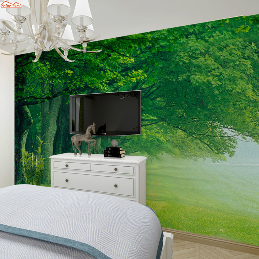 ShineHome-Forest Tree Road Photo Wallpaper Roll 3d Wallpapers for Wall 3 d Walls Paper Rolls Papier Peint papel de parede 3d shinehome skyline sea wave sunset seascape wallpaper rolls for 3d walls wallpapers for 3 d living rooms wall paper murals roll