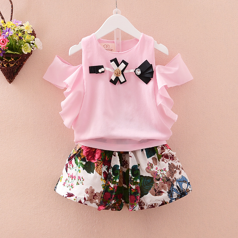 2016 Summer Baby Clothing Sets Cotton Baby Sets Kids Clothes Newborn Baby Girl Shorts Set Kids T-shirt+Shorts Set Girls Clothes 2017 new summer girl clothing sets baby girl cotton printed top s floral printed shorts girls clothes suits children sets d40