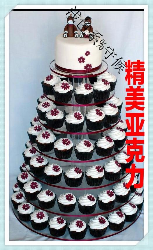 7 Layer Acrylic Cake Wedding Multi Tier Frame Glass Shelf Cupcake Stand
