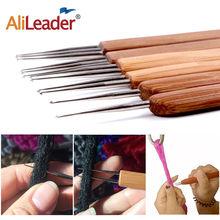 AliLeader 3 PCS Triple Double One Head Bamboo Handle 0.5Mm 0.75Mm Dreadlock Crochet Hook Needles For Dreads Hair Tools Soft Grip