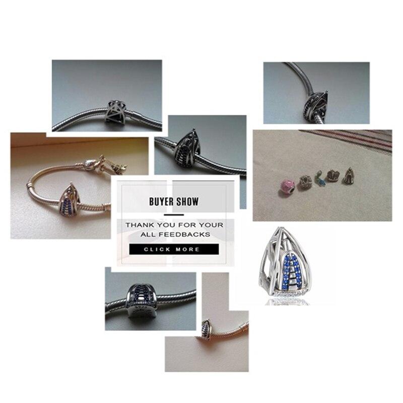 925 srebrni srebrni nakit Dubai Burj Al Arab 3D šarm sa plavim - Modni nakit - Foto 2