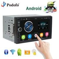 Podofo Авто Радио 2 Din Android gps навигации автомобильный радиоприемник стерео 7 HD Универсальный Автомобильный плеер Bluetooth USB аудио резервного копи
