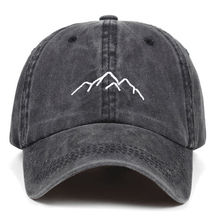 2019 new Mountain range embroidery Mens Womens Baseball Caps Adjustable Snapback Caps Washed dad Hats Bone Garros cheap VORON Adult COTTON Unisex Casual cap men One Size cartoon 55-62cm 7-45 days based on the way you choose