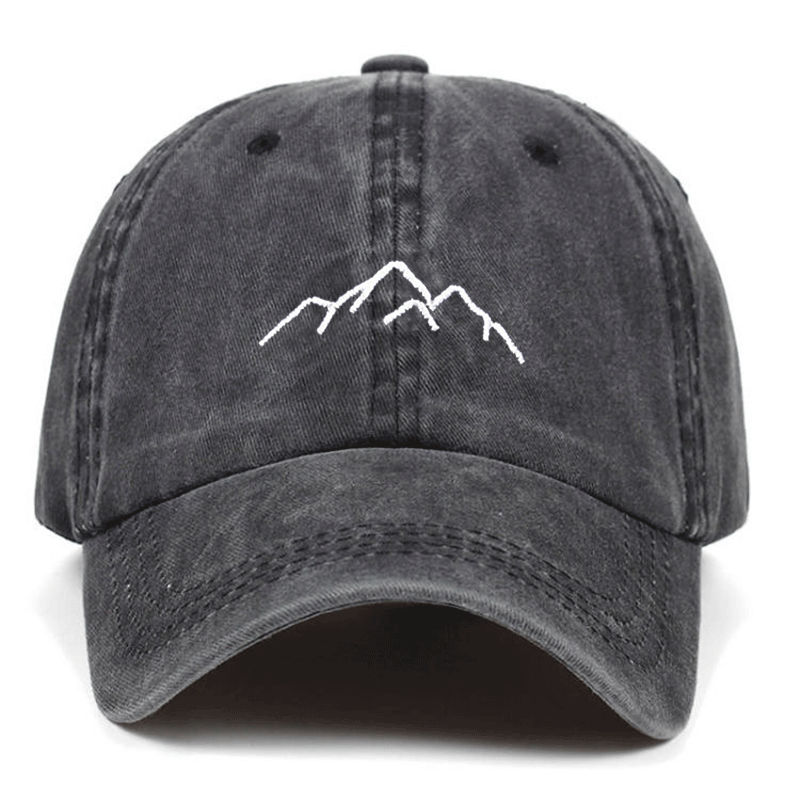 2019 new Mountain range embroidery Mens Womens   Baseball     Caps   Adjustable Snapback   Caps   Washed dad Hats Bone Garros