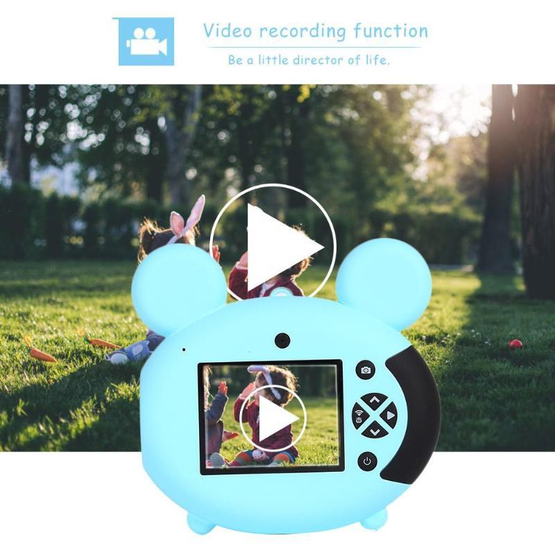Enfants enfants caméra jouet 800 mAh 2 pouces 8MP enfants bande dessinée numérique caméra sans fil WiFi 1080 P 8MP caméscope