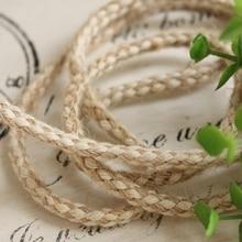 """5 mm ( 0.197 """" ) 10 m/lote diy accesorios de tela hechos a mano cordón del cáñamo de punto de algodón de cáñamo decoración zakka cuerda caliente venta"""