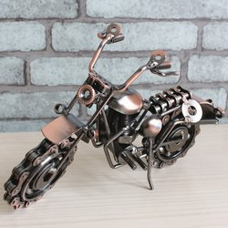 Kreatywny rocznika motocykla dekoracji Craft ręcznie sztuki żelaza motocykl metalowe rzemiosło urodziny i prezent na Boże Narodzenie do Moto fanów|Posągi i rzeźby|   -