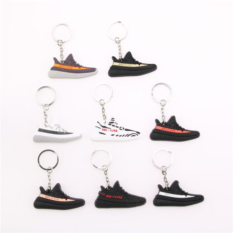 Mini Silicone YEEZY BOOST 350 V2 Shoes Keychain Bag Charm Woman Men Kids Key Ring Key Holder Gift SPLY-350 Sneaker Key Chain