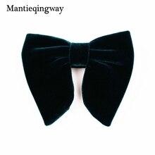 Mantieqingway, новинка, модный бархатный галстук-бабочка с большим бантом для женщин, мужчин, жениха, Свадебный галстук-бабочка, обтягивающий, сплошной цвет, Gravatas, тонкий черный галстук