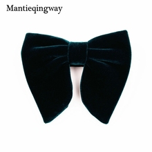 973004d03112 Mantieqingway New Fashion Velvet Big Bowties for Women Mens Groom Wedding  Bow Tie Skinny Solid Color