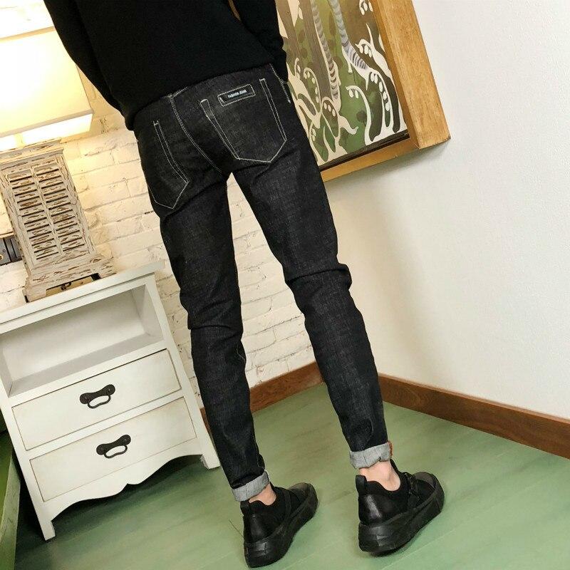 Summer New Style Black Size 28-34 Slim Nine Tips Casual Denim Trousers Personality Fashion Classic Pop Trendy Youth Vigor Urban