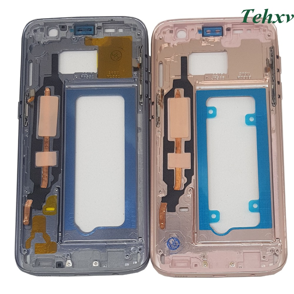 Original Middle Back Frame Chassis Plate Bezel Back Housing For Samsung Galaxy S7 G930 G930F G930FD G930W8 G930A G930V G930T image