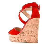 Women Wedge Sandals Peep Toe Supper High Platforms Dress Heels Ladies Summer High Heel Shoes Big Size 44 45 46