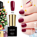 AZURE BEAUTY Gel Polish Nail Paint For Nail Design Dark Red Color Hybrid Polish Soak Off UV Gel Vainish Azure Nail Gel Glue