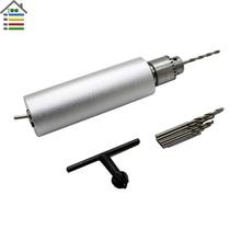 DC 12V 1A Electric Mini Hand Drill DIY Press Motor 0.3-4mm JTO Keyless Chuck with 10pc Twist Bit Set Model Hobby Tool