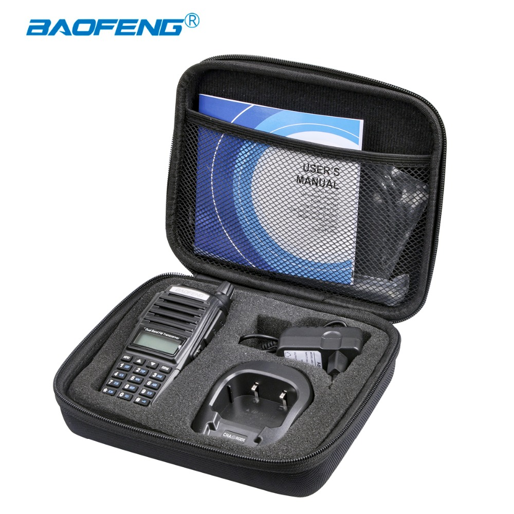 Baofeng UV-82 Walkie Talkie Case UV 82 Two Way Radio Handbag Portable Nylon Protect Storage Bag For UV82 CB Radio Hunting Cover
