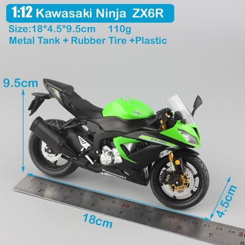 1:12 scale mini Kawasaki Ninja ZX-6R Sport bike metal Motorcycle diecast sport road racing model collection car toy for children Islamabad