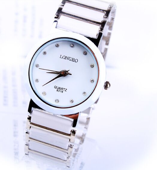 LONGBO Dress Luxury Jewelry Brand Wristwatch Fashion New Business Casual Relogio Feminino Woman Imitation Ceramic Quartz WatchesLONGBO Dress Luxury Jewelry Brand Wristwatch Fashion New Business Casual Relogio Feminino Woman Imitation Ceramic Quartz Watches