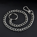 Extra Long Metal Keyring Keychain Silver Chain Hipster Key Wallet Belt Ring Clip Free shipping