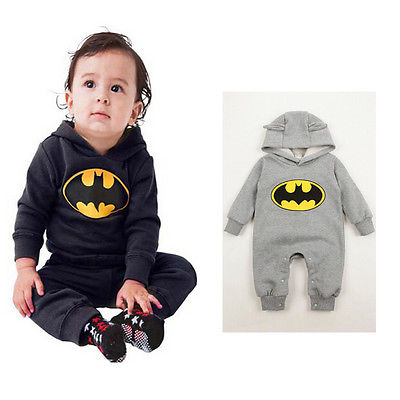 Baby Batman Romper Newborn Baby Boy Girl Clothes Batman Rompers Baby Unisex Romper Infant Boys Girls Long Sleeve Jumpsuits unisex baby boys girls clothes long sleeve polka dot print winter baby rompers newborn baby clothing jumpsuits rompers 0 24m