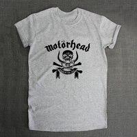 Heavy Metal Music Gothic Letter Print Tee Shirts Men T Shirt Man Grey Gray Tshirt Metallica