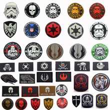 Star Wars Coffee Patches 3D PVC Rubber Embroidered Tactical Boba Fett Bounty Hunter Military Armband Badges For Clothes Bags embroidery badge bounty hunter boba fett bantha skull new embroideried badges military tactical armband patch patches for jacket