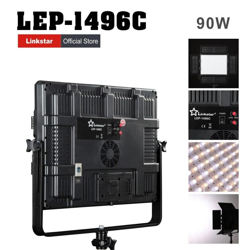Linkstar 90W LED Lamp Lighting Panel CRI95 Camera Photo Video Light Color Stepless Adjustable 1496pcs LEDs