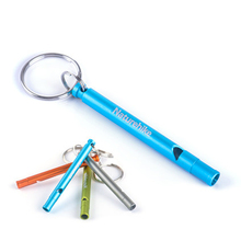 Survival Whistle Aluminum Whistle football soccer Emergency Camping Outdoor Gear Free Shipping with  keychain high quality120db edc emergency aluminum whistle camping survival keychain kit for outdoor activities pesonal safe security