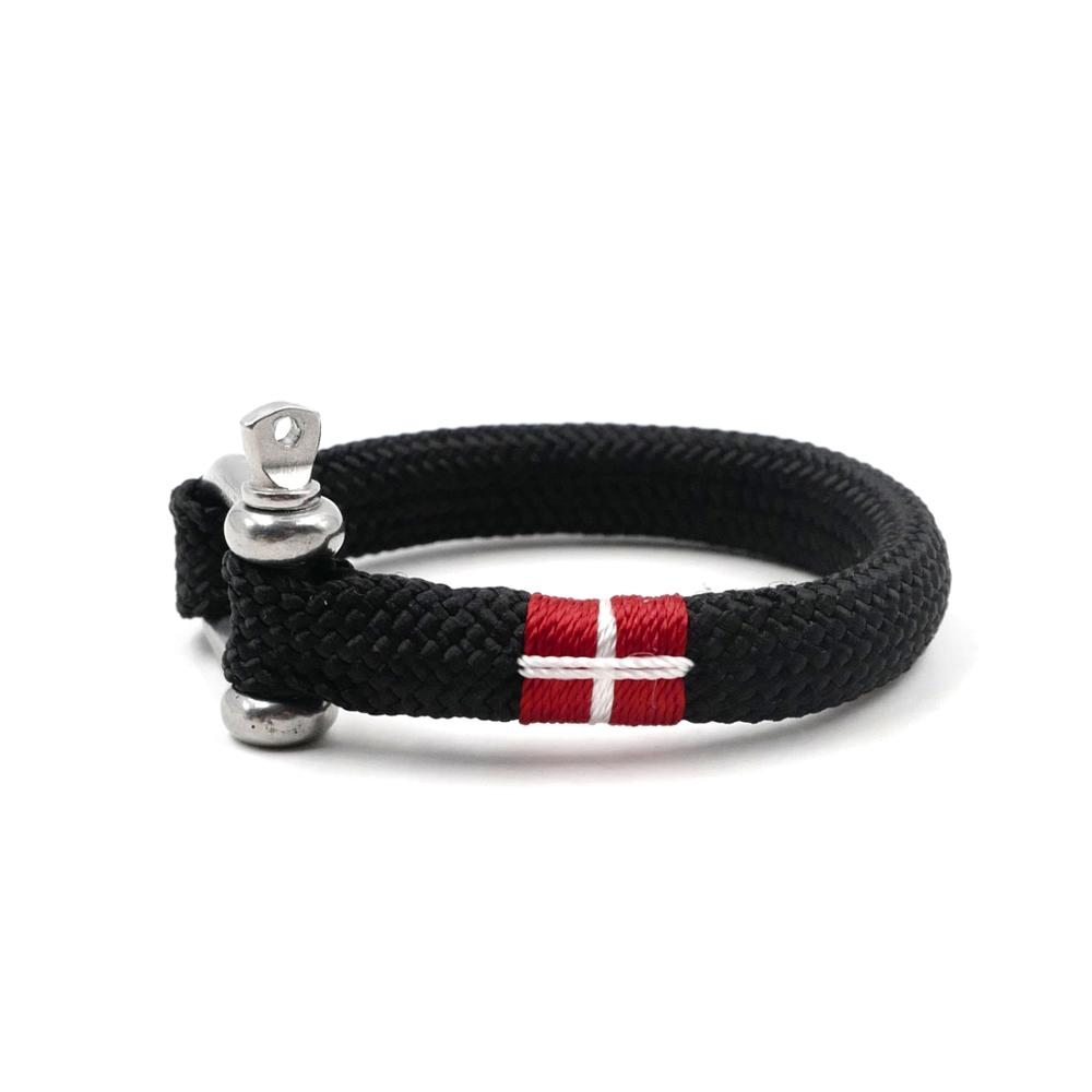 National Flag Chic Nautical Braided Bracelet Hand-made Yachting Rope Military Paracord Bracelet Wristband W/ D-Shackle BRT-N515