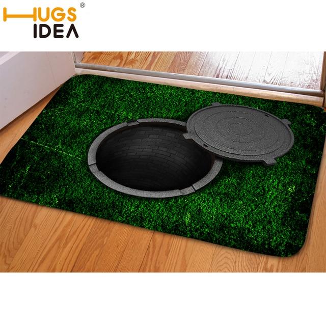 HUGSIDEA 3D Ловушку Зеленый Смешно Вход Коврик Поглощения Мягкая Вода Carpet Non Slip Коврики Для Гостиной Кухня Дверь Этаж коврики
