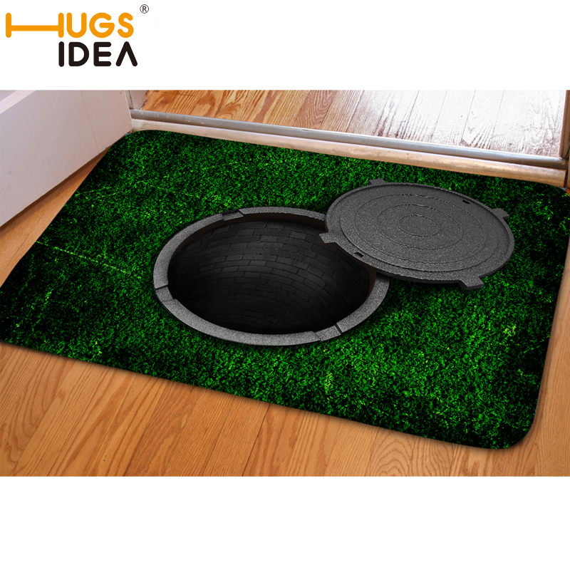 HUGSIDEA 3D Falle Grün Lustige Eingang Fußmatte Weiche - Haustextilien - Foto 1