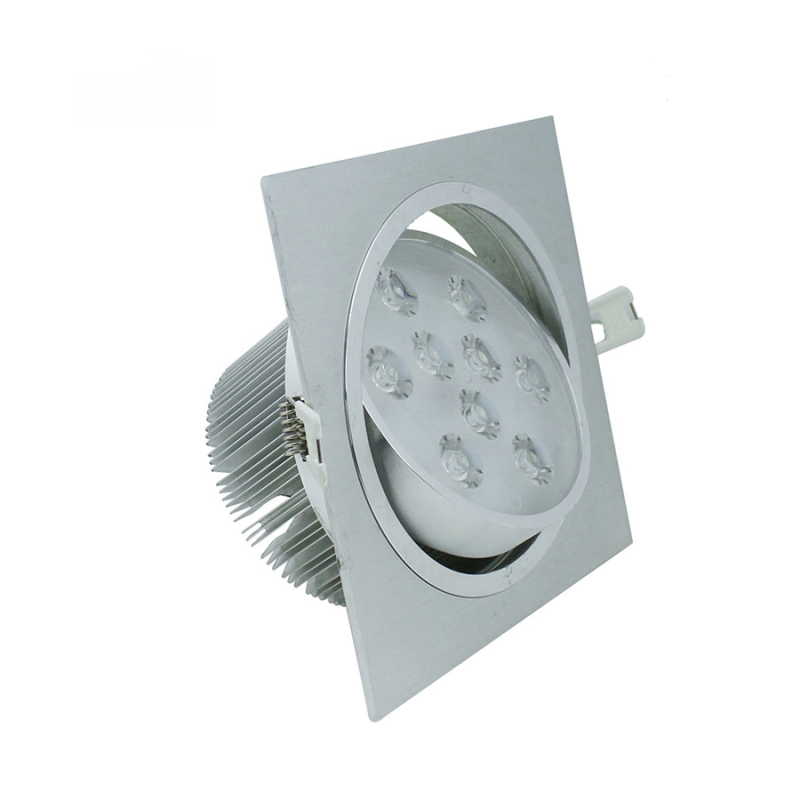 Мощный квадратный светодиодный потолочный светильник 9 Вт 15 Вт 21 Вт 27 Вт 36 Вт 45 Вт светодиодный встраиваемый потолочное освещение с приводом