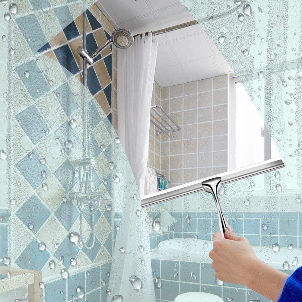 Limpiaparabrisas Rasquetas de ventana Escurridor de acero inoxidable Pukkr Gancho colgante de succi/ón Ba/ño de la escobilla de goma Limpiaparabrisas de ducha