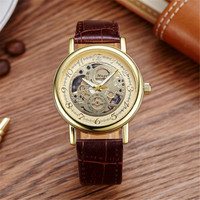 Men S Waterproof Double Sided Hollow Mechanical Watches Men S Business Casual Luxury Watches Men High