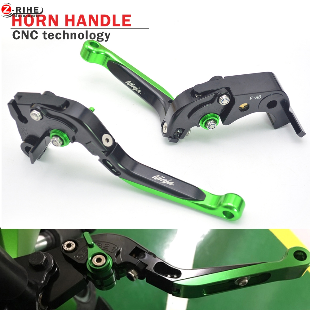 Brake accessories Folding Adjustable Motorcycle Brake Clutch Levers Telescopic folding For Kawasaki NINJA 250 300 1000 500 650r billet alu folding adjustable brake clutch levers for motoguzzi griso 850 breva 1100 norge 1200 06 2013 07 08 1200 sport stelvio