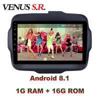VenusSR Android 8.1 2.5D dvd de voiture pour JEEP Renegade Radio 2016-2017 multimédia GPS Radio stéréo gps navigation