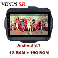 VenusSR Android 8.1 2.5D auto dvd Für JEEP Renegade Radio 2016-2017 multimedia GPS Radio stereo gps navigation