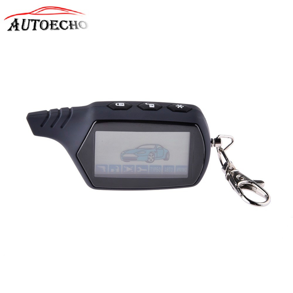 2-way A61 LCD Remote Controller Key Fob For StarLine A61 Two Way Car Alarm System Russian Alarm Auto-start