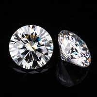Similar a moissanite brillante para siempre 5,0mm 0.5ct GH color redondo corte brillante moissanitas piedra gema suelta para fabricación de joyas