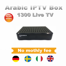2018 New Arrival Stalker IPTV Box DVB-S2 Satellite TV Receiver 1300 Arabic&Eroupean Live TV