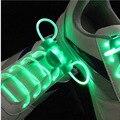 Correa Del Palillo Del Resplandor de Luz de Flash LED Cordones de Los Zapatos Deportivos Cordones de Los Zapatos Disco Party Club 1 Par 80 cm largo Worldwide venta