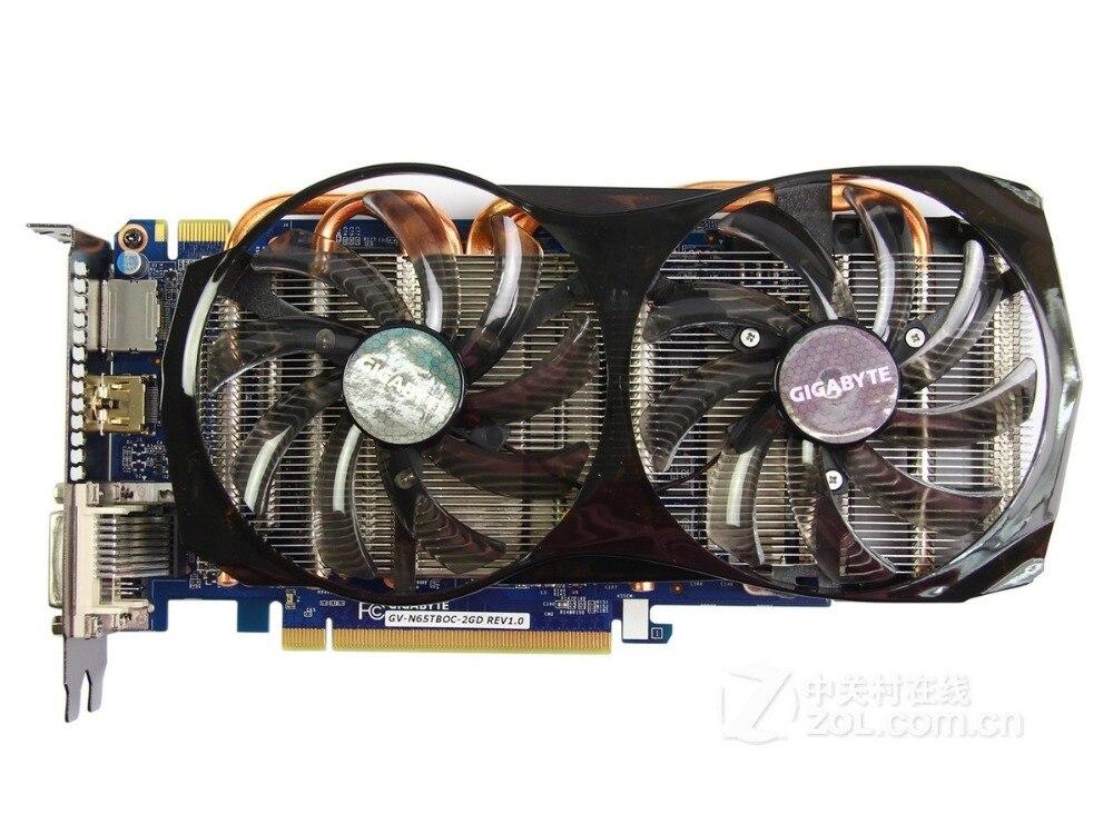 Gigabyte GV-N65TBOC-2G cartes graphiques d'origine 192Bit GTX 650Ti Boost 2G GDDR5 carte vidéo DVI HDMI DP pour Nvidia GTX650 Ti Boost