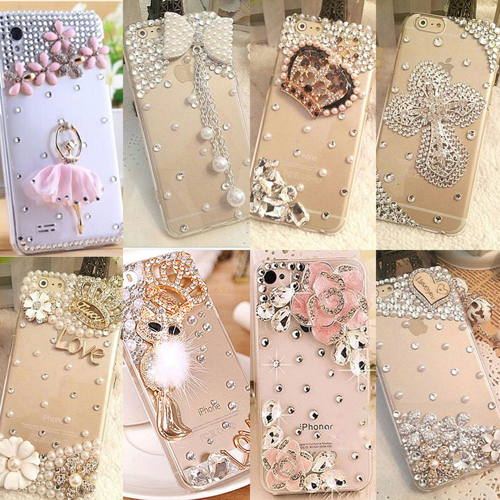 Mobile Phone Cases For Oppo F7 Glitter Star Pearl Pendant Bling Wrap Skin A37 New Style Cute Diy Handmade Rhinestone Fashion Neo9 3d
