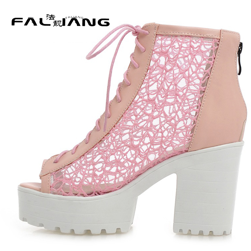 New arrival Gladiator Big Size 11 12 women shoes woman ladies Platform womens Summer Rough with Peep Toe high heel sandals 2017 new spring autumn big size 11 12 dress sweet wedges women shoes pointed toe woman ladies womens