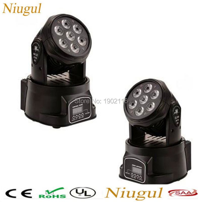 2pcs/lot Disco dj lighting 7x12W RGBW LED Moving Head Light 4in1 LED wash Stage effect Light wedding home party Xmas led lamps 2pcs lot dmx512 rgbw 4in1 mini led moving head light for disco dj club home party and stage effect lights 10w led beam light