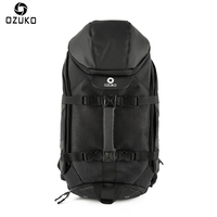 OZUKO 2018 New Large Capacity Travel Backpack Men S Multifunction USB Charging Laptop Backpack Waterproof Travel