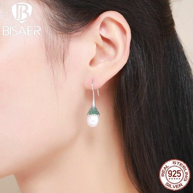 Us 12 38 15 Off Bohemian 100 925 Sterling Silver Natural Green Whisper Hoop Earrings Women Fashion Wedding In