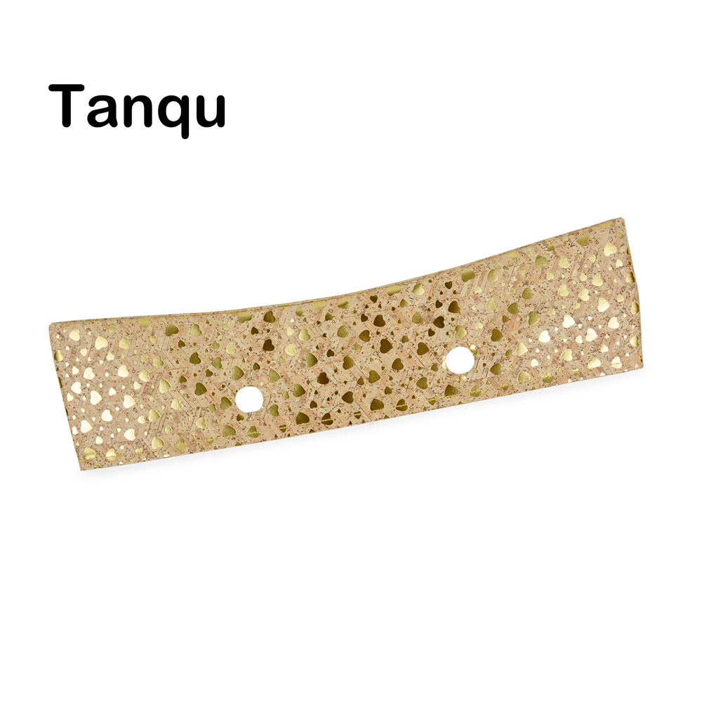 TANQU New Classic Mini Wood Grain Pattern Trim PU Faux Leahter Decoration For Obag Handbag O Bag Body For Summer Autumn
