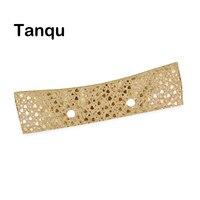 TANQU New Summer Classic Mini Wood Grain Trim PU Floral Shiny Line Thin Decoration For Obag